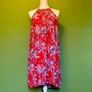 Ann Taylor Loft red sleeveless summer dress